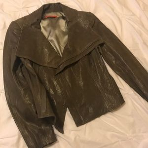 Alice + Olivia Gray Leather Jacket